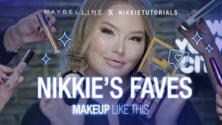 NIKKIETUTORIALS MUST-HAVES + EXCLUSIVE NEW HIGHLIGHTER | Maybelline New York