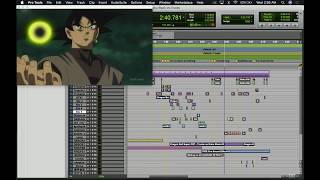 Goku Black Vs Future Trunks (Behind The Scenes Fan Dub ) Recreated On Pro Tools 12