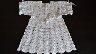 """""""Крестильное платье крючком. Анонс"""" (Christening dress crochet)"""