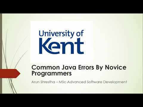 Java Mistakes By Novice Programmers 1 Cannot Resolve Symbol Youtube