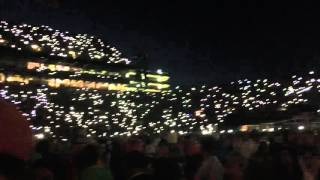 Watch fans light up Jordan-Hare Stadium during the Music & Miracles Superfest