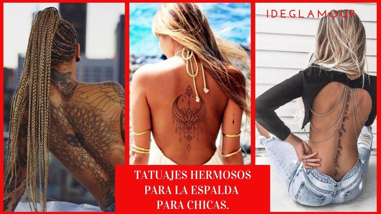 Tatuajes Hermosos Para La Espalda Para Chicas By Ideglamour Youtube