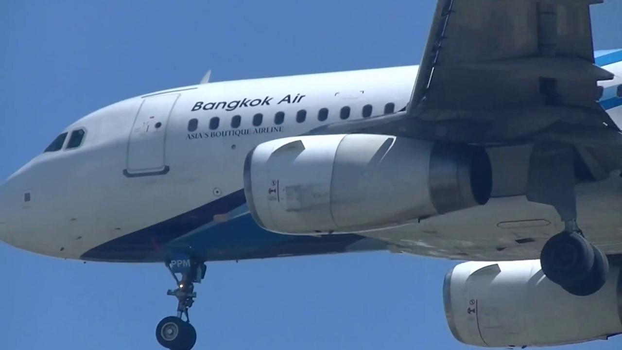 曼谷航空 Bangkok Airways A319-132(HS-PPM) PG-241 蘇梅島(USM)→清邁(CNX) landing - YouTube