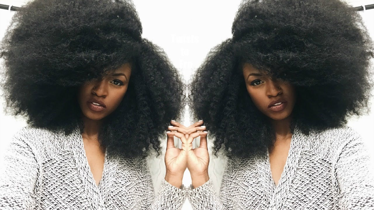 How To Turn Your Durban Twists Into An Afro Youtube