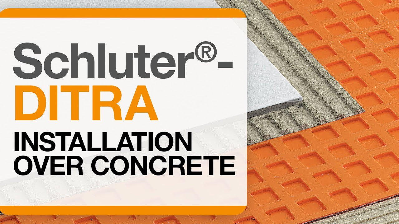 Schluter 174 Ditra Installation Over Concrete Youtube