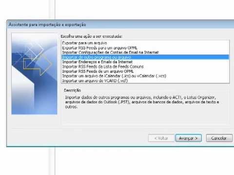 Como exportar e importar contatos no Outlook 2010