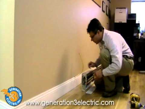 philadelphia electrician electric baseboard heater install youtube. Black Bedroom Furniture Sets. Home Design Ideas