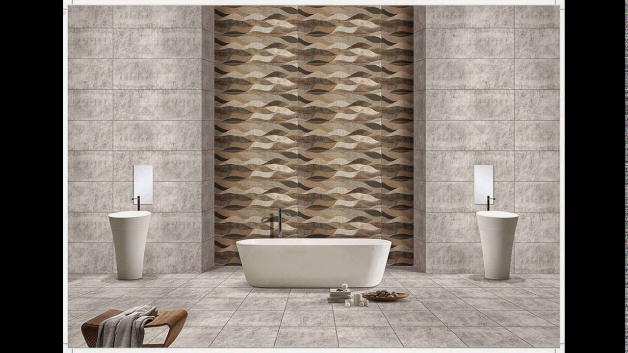 Kajaria bathroom tiles designs - YouTube
