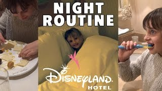 vlog night routine fun disneyland hotel studio bubble tea evening routine