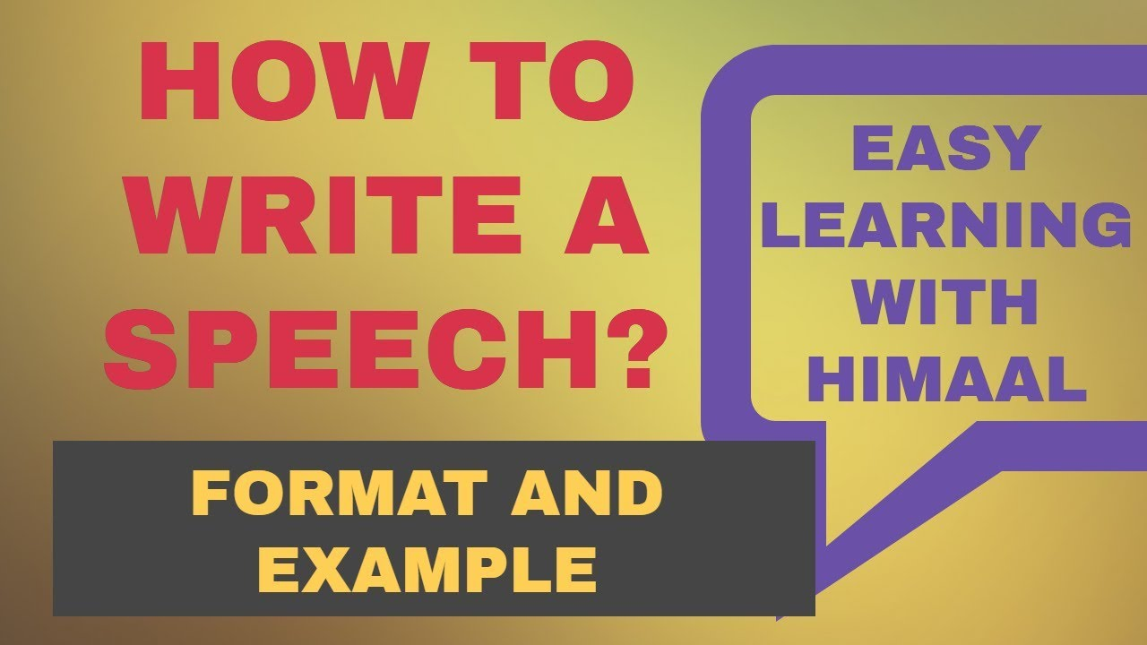 speech format example