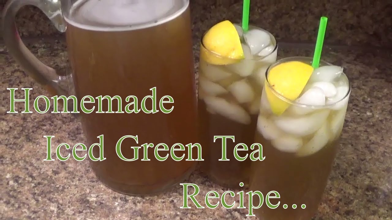Iced Sweet Green Tea Recipe How To Make