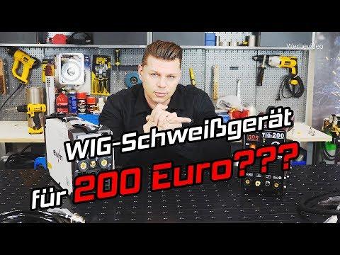 WIG Schweißgerät für 200 € - Testbericht Vergleich mit ewm Picotig 200 DC TIG Inverter