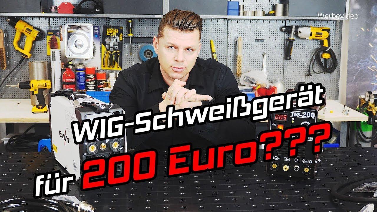 wig schweißgerät für 200 euro? geht das? - youtube