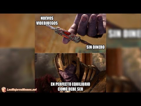 Memes De Thanos Y El Equilibrio Perfecto Como Debe Ser