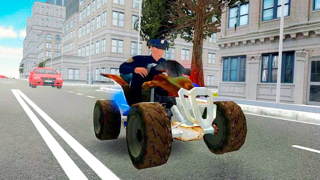 Bike Racing Games Police Atv Quad Bike Racing 3d Gameplay