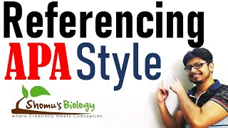APA style referencing tutorial | APA in text citation | How to reference in APA style