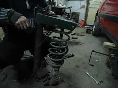 Съемник для стоек самодельный из домкрата - YouTube