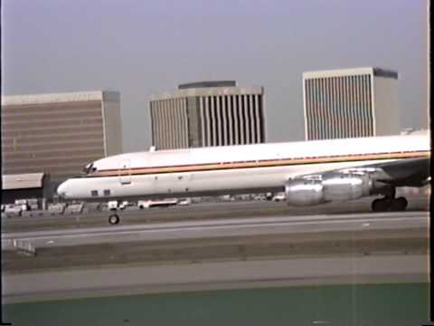 American International Douglas DC-8-71(F) Arriving & Departing LAX
