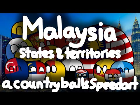 My native land :) | Malaysian States and Federal Territories | Countryballs' Regions #2