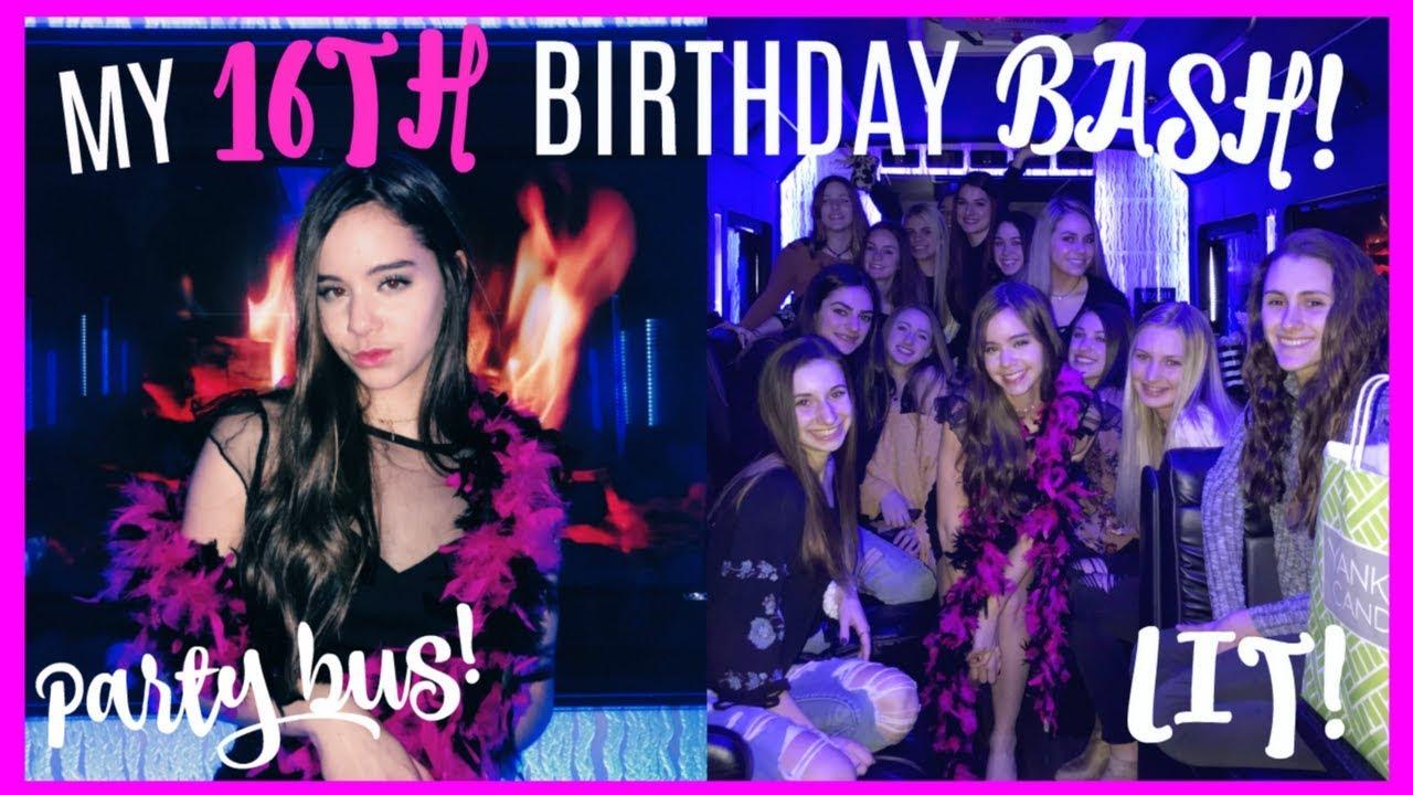 My 16th Birthday Vlog I Got License Party Bus