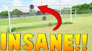 half field crossbar shot football soccer golf challenge