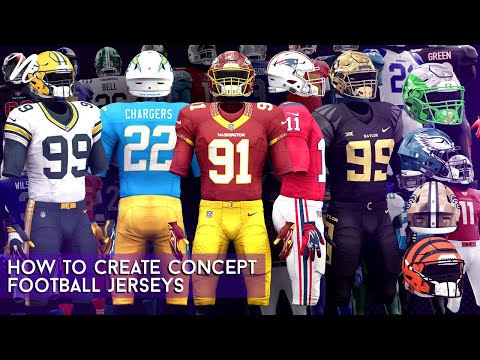 How To Create Concept Football Jerseys In Photoshop By Qehzy