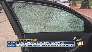 Rash of broken car windows along quiet Ocean Beach street