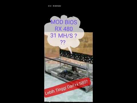 RX 480 4GB 30 MH/S?? MODDING BIOS tutorial mining indo