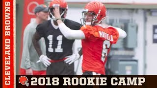 2018 Rookie Minicamp Day 1 | Cleveland Browns