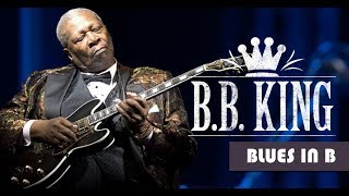 B.B. King Style Slow Blues Backing Track Jam in B