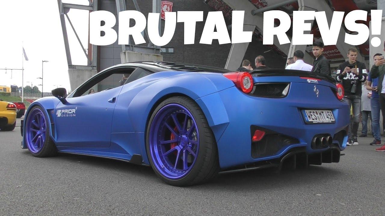 Crazy Widebody Ferrari 458 By Prior Design Youtube