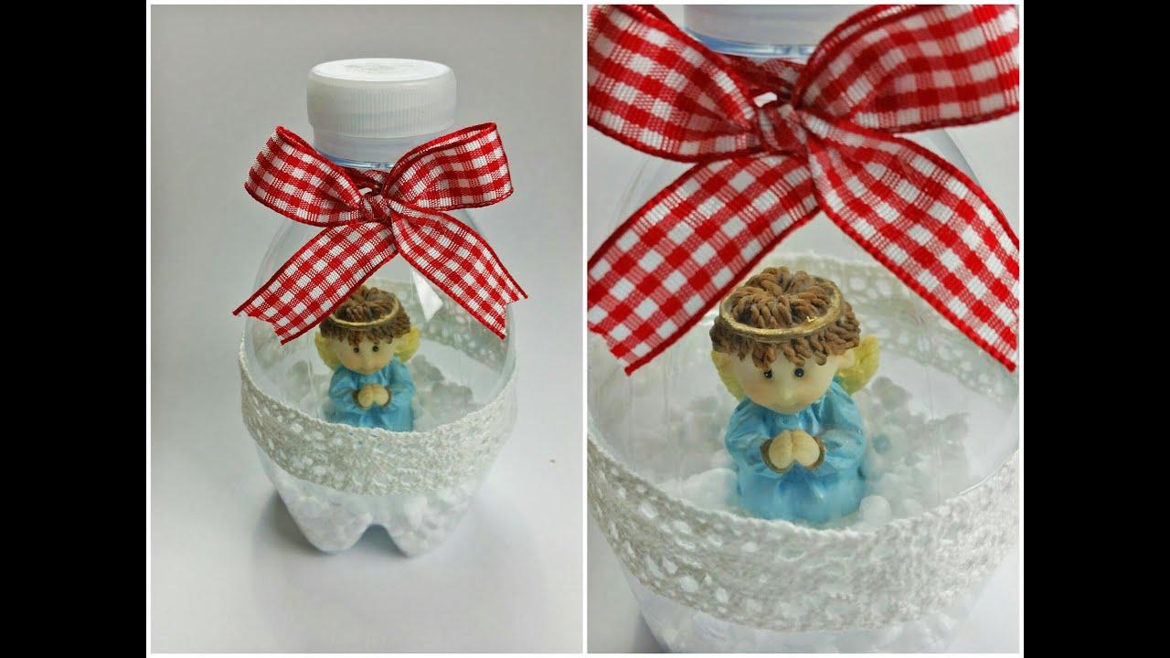 Per la decorazione io ho aggiunto: Tutorial Bottiglia Pallina Di Natale Riciclo Diy Youtube
