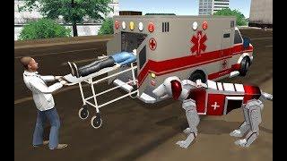 US Ambulance Transform Robot Rescue Dog Robot Game (By Kick Time Studios) Gameplay HD