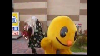 お正月、ピーアークのピーくんが獅子舞と行動を共にしていました。 ピー...