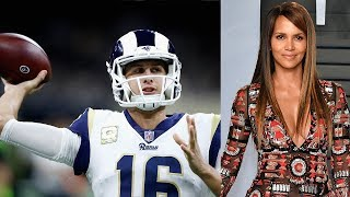 Rams QB Jared Goff SHOOTS HIS SHOT At Halle Berry With A Play Call!