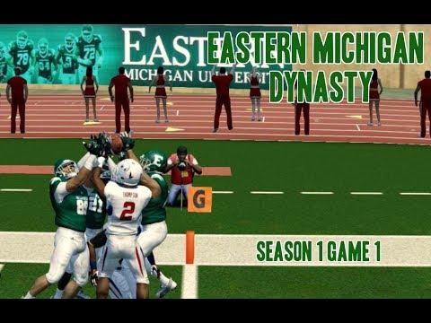 Eastern Michigan Dynasty Ep. 2 Season 1 Game 1 vs South Alabama