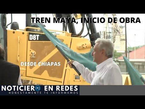 Banderazo de Inicio de Obra del Tren Maya, Tramo 1 Chiapas #EnVivo