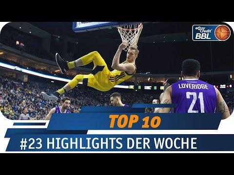 Wahnsinns No-Look Pass zum Alley-Oop | Telekom Sport TOP 10 | #23 | easyCredit BBL