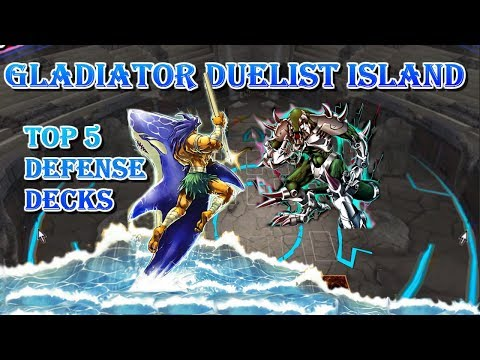Top 5 Duelist Island -Gladiator- Defense Decks [Yu-Gi-Oh! Duel Links]