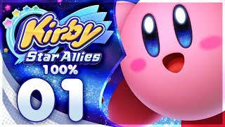 Kirby Star Allies - 100% Walkthrough: Dream Land | Part 1 + GIVEAWAY!