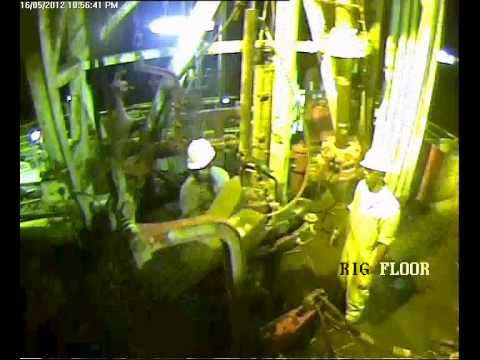 power tong accident on rig floor