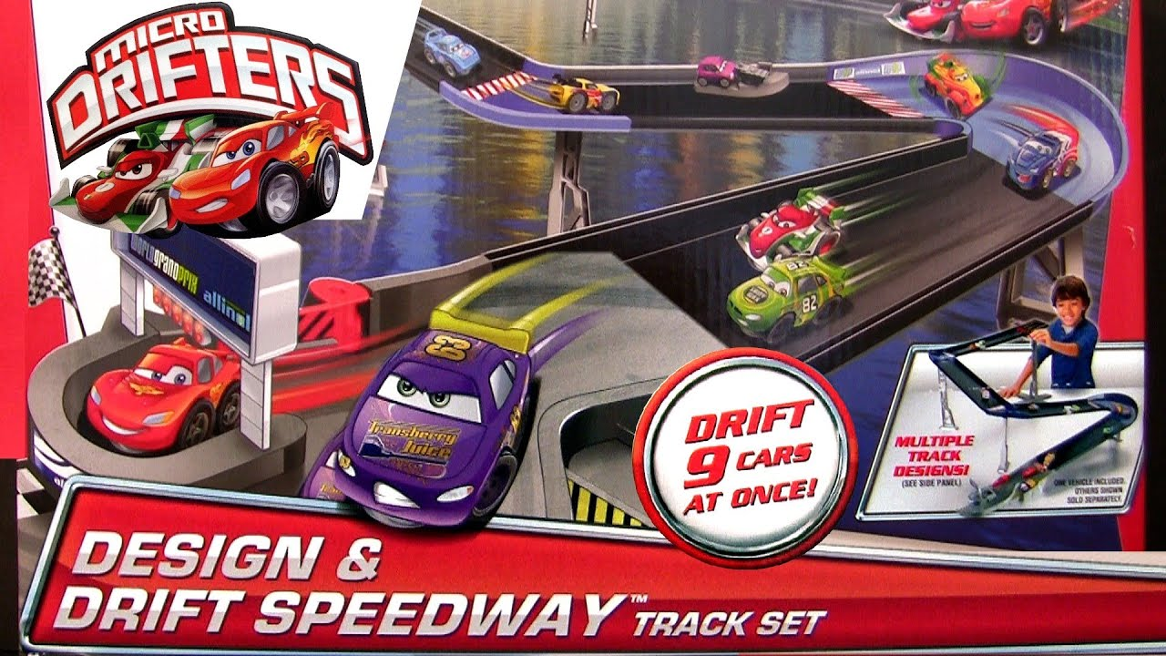 Micro Drifters Design N Drift Speedway Track Playset Race Cars