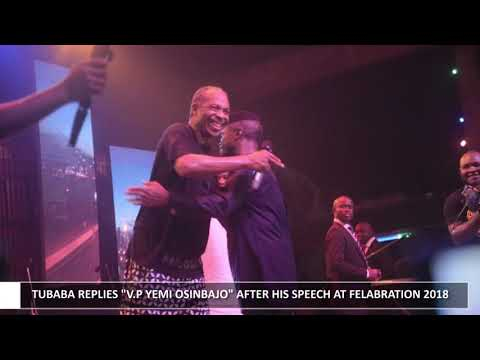 2BABA REPLIES VP YEMI OSINBAJO AT FELABRATION 2018
