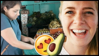 Americans Try Mexican Food Taught By Local - Travel Mexico couple vlog #283