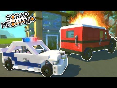 COPS AND ROBBERS! - Scrap Mechanic Multiplayer Gameplay & Update Challenge