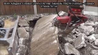 bav alligator crusher hydraulic jaws on takeuchi tb230 part 2