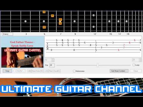 Guitar Solo Tab God Father Theme Speak Softly Love Youtube