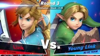 LINK VS YOUNG LINK - SQUAD STRIKE SUPER SMASH BROS. ULTIMATE