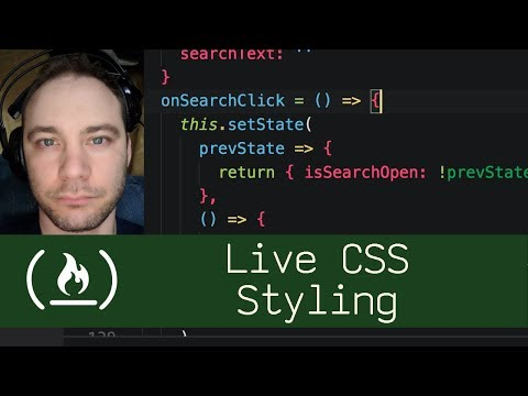 Live CSS Styling (P5D67) - Live Coding With Jesse