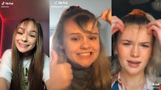Girls cutting their own bangs  ✂   TikTok compilation